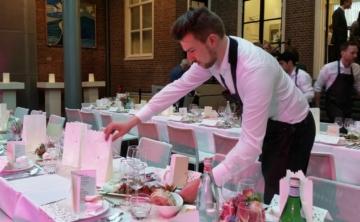 Banqueting Personeel Waiters Bruiloft Organiseren Banqueting Medewerker Banqueting Personeel